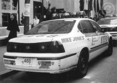 New York Police Car (Black and White)