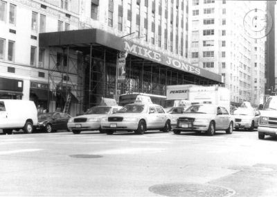 New York Taxis (Black and White)