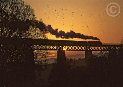 Steam Train over Bridge