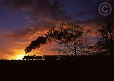Steam Train at Night