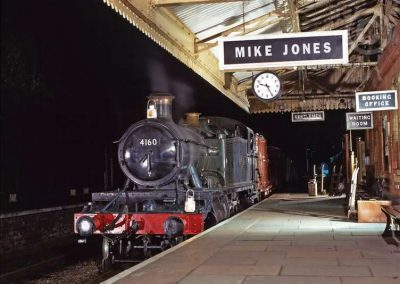 Steam Train at Station (Night)