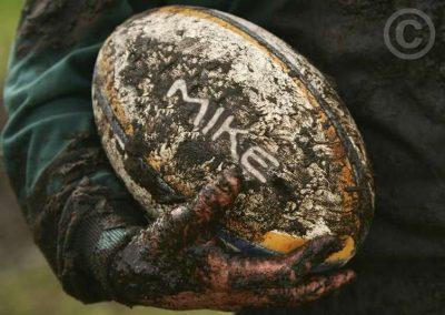 Muddy Rugby Ball