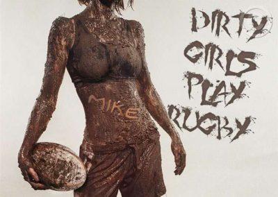 Muddy Women Rugby Player
