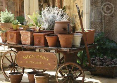 Flower Pots on Cart