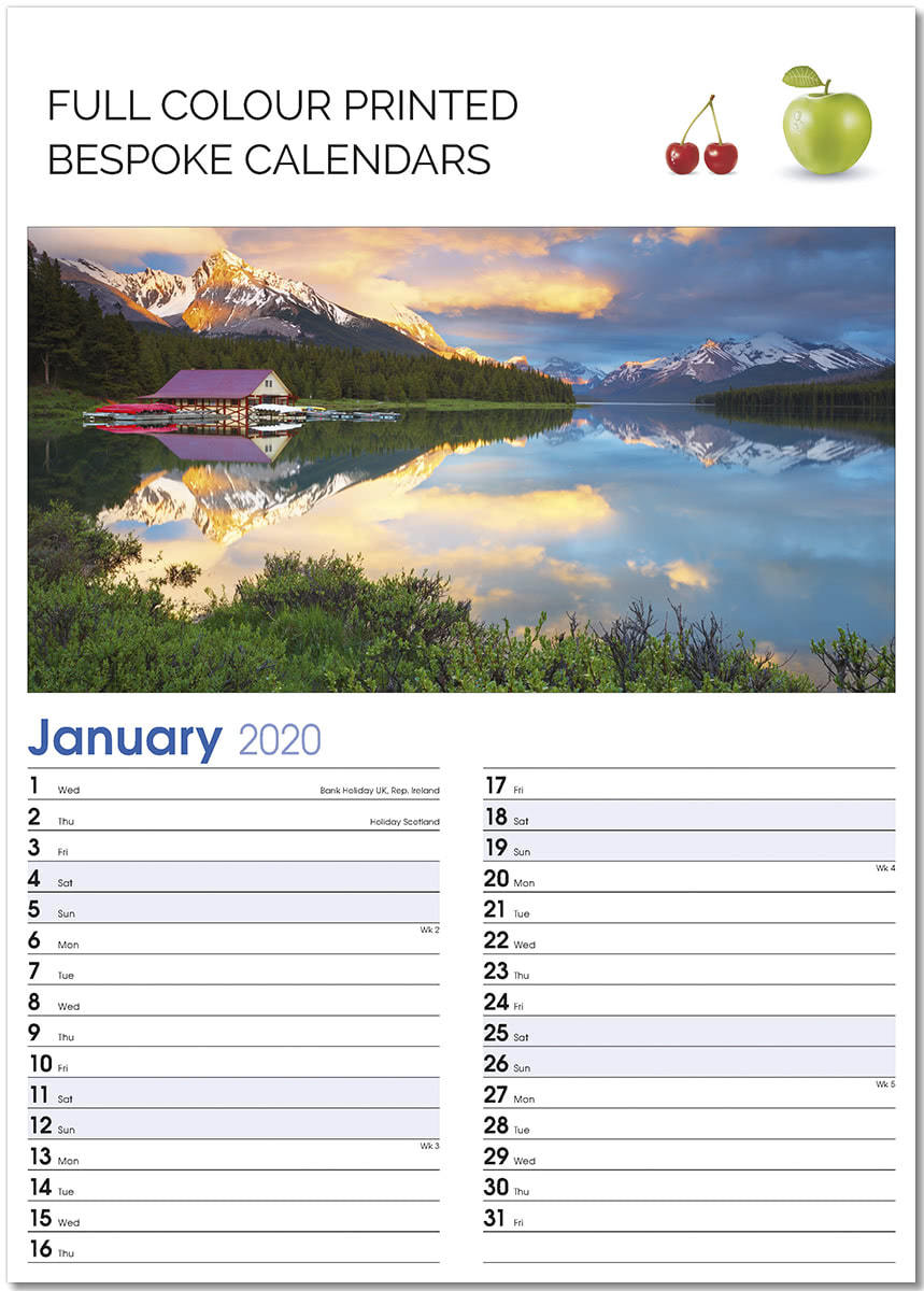 Optima D Templated Bespoke Calendar