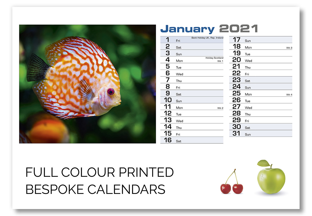 A5 Design C Templated Bespoke Calendar