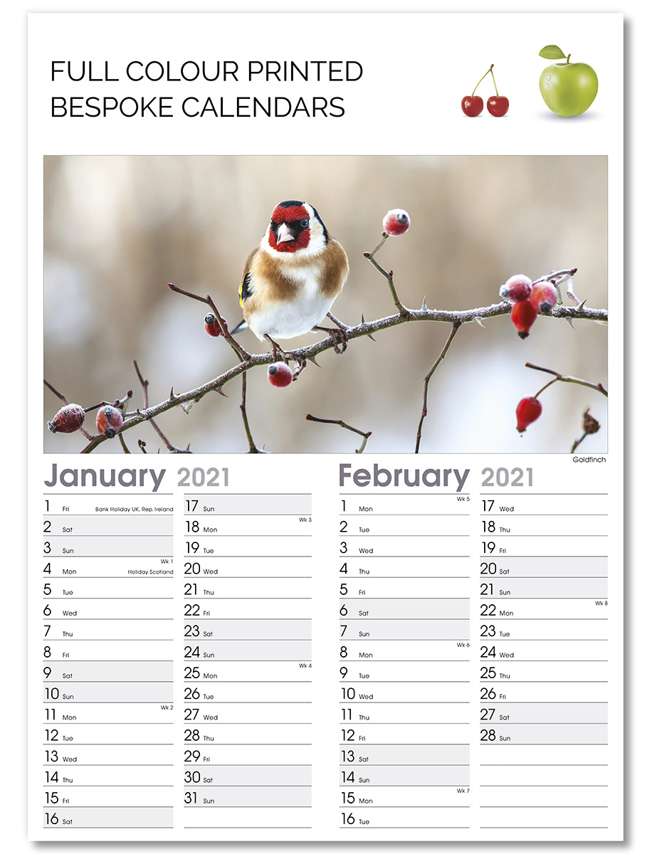 Optima B Templated Bespoke Calendar