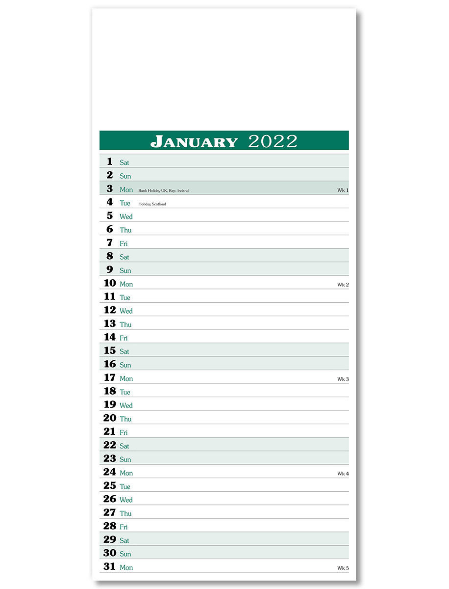 Appointment Memo Wall Calendar